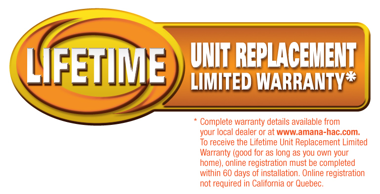 Lifetime Limited Unit Replacement Warranty
