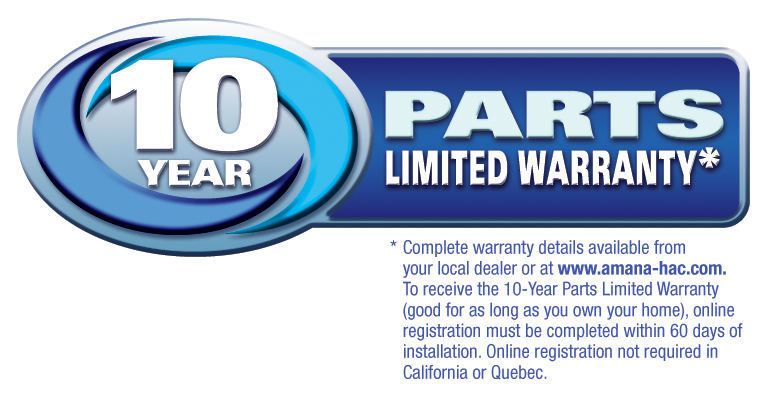 10YR Limited Parts Warranty